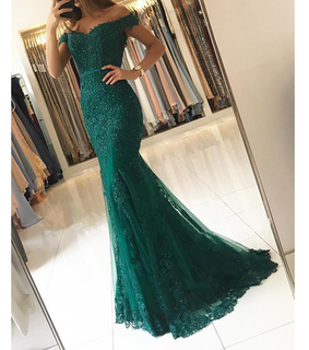 formal wear, fashion and green prom dress