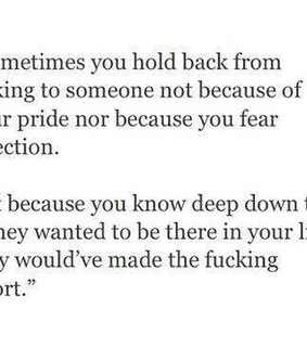 hold back, if they care and matter