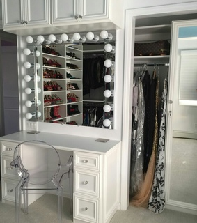 luxe, beauty room and makeup vanity