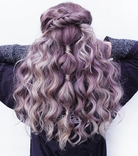 beauty, braids and coloured hair