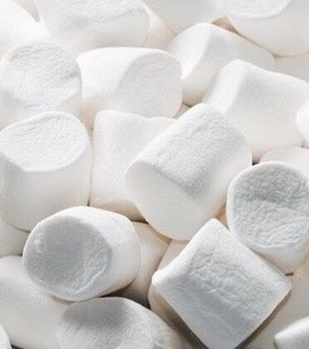 white, soft and marshmallows
