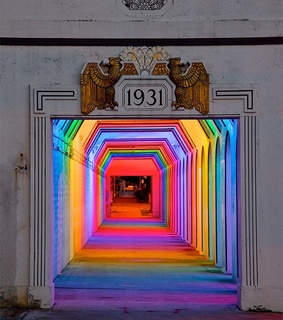 art, installation and neon