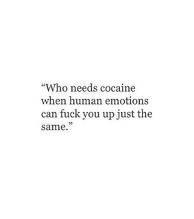 crush, drugs and emotion