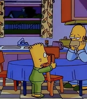 the simpsons, funny and alone