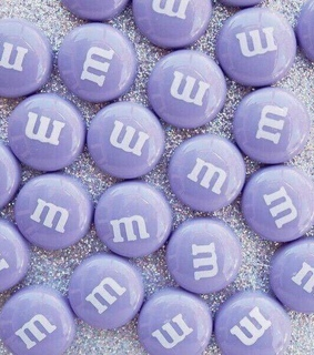 aesthetic, violet and m&m