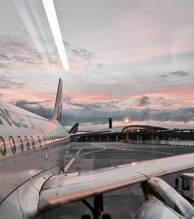 colourful, plane and clouds