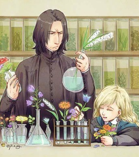 severus snape, harry potter and luna lovegood