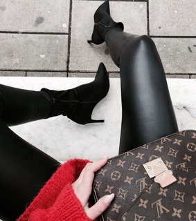 Louis Vuitton, bag and boots