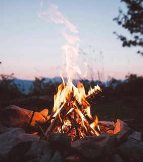 campfire, camping and fire