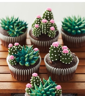 frosting, cactus and sweet