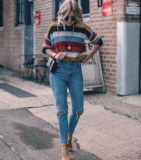 stripes, jeans and fashion