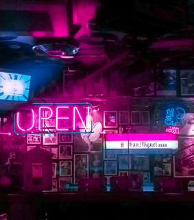 cafe, bar and pink and blue