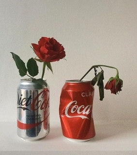 red, coca cola and rose