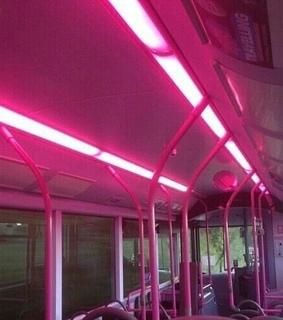 neon, city and pink