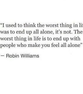 alone, bad and end