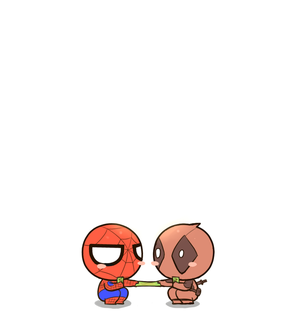 kawaii, Avengers and spider-man