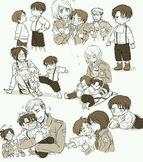 Erwin, aot and levi