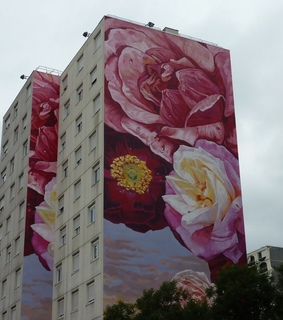 pink, art and building