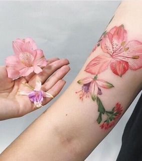 flores, Tattoos and flowers