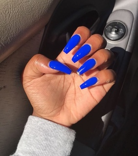 acrylic, coffin and long nails