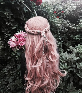 hair colour, pastel and pink