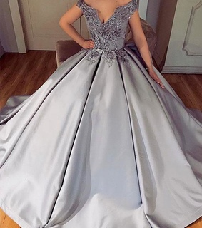 prom dress, formal occasion dress and silver dress