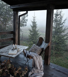 terrace, mist and blanket