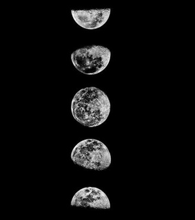 blackandwhite, fullmoon and space