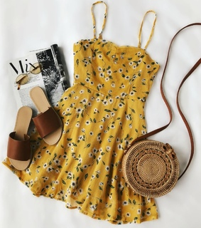 bag, yellow and vintage