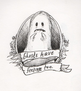 ghosts, funny and text