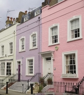 pink home, street and design