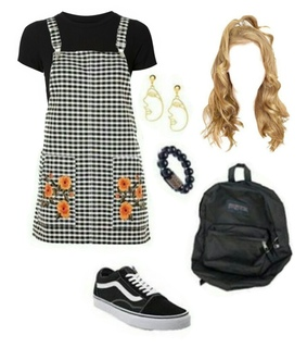 Polyvore, dress and blond hair