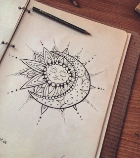 whi, drawing and sun