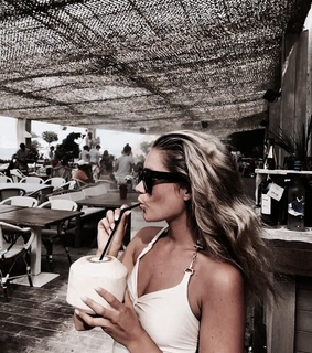 coconut, drink and fashion
