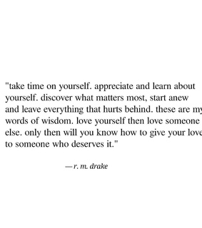 quote, love and r m drake