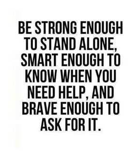 ask, brave and confidence