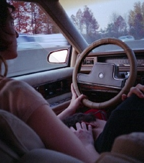 Road Trip, brunette and car