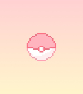 pixel, pokeball and cute