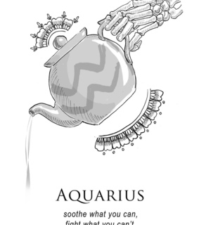 aquarius, astrology and drawing