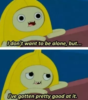 alone, adventure time and lonely
