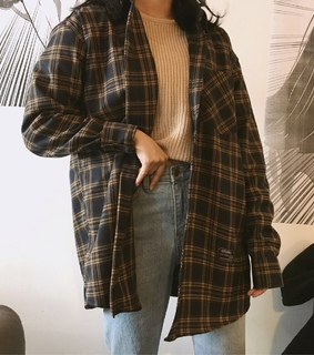 casual, checked shirt and rock