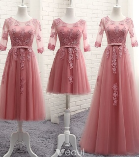 wedding party dress, lace and bridesmaid dress