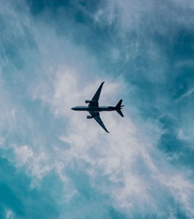 aesthetic, airplane and blue