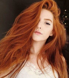model, red hair and pale