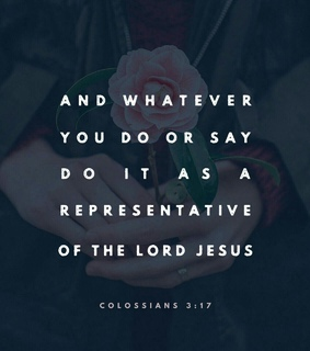 whatever you do..., god and bible