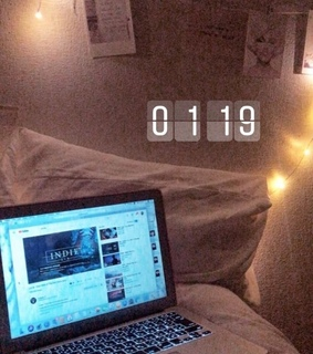 late night, macbook and my room