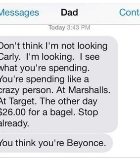 lol, shopping and dad