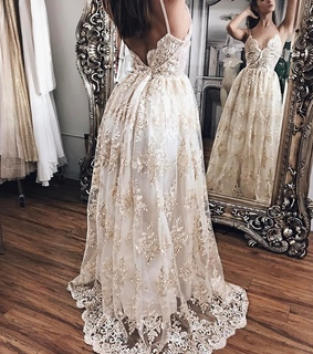 lace prom dress, prom 2k18 and champagne dresses