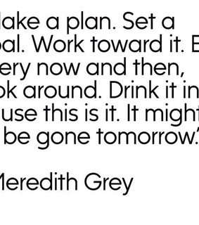 work hard, plan and meredith