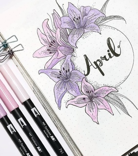 april, art and bullet journal